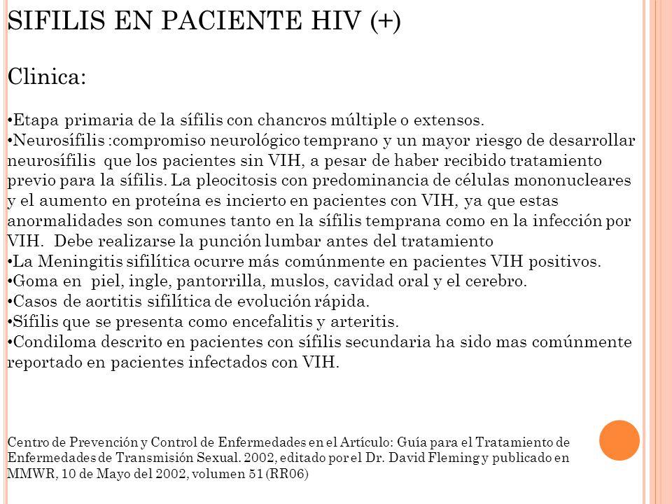 SIFILIS EN PACIENTE HIV (+)