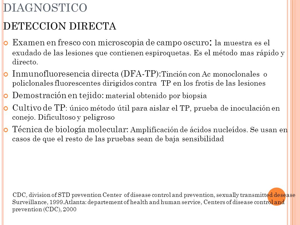 DIAGNOSTICO DETECCION DIRECTA