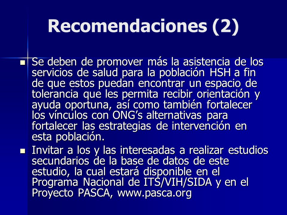 Recomendaciones (2)