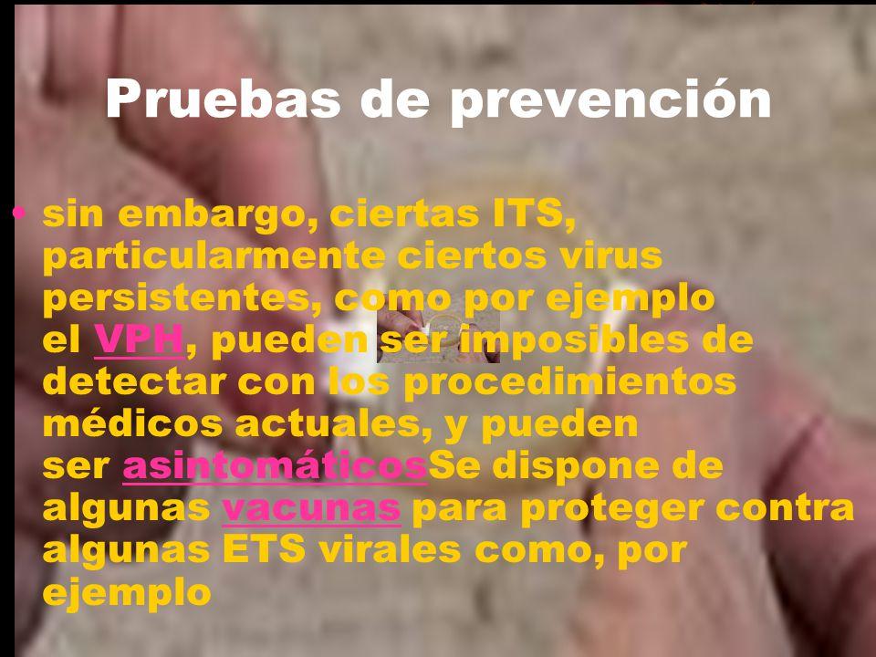 Pruebas de prevención