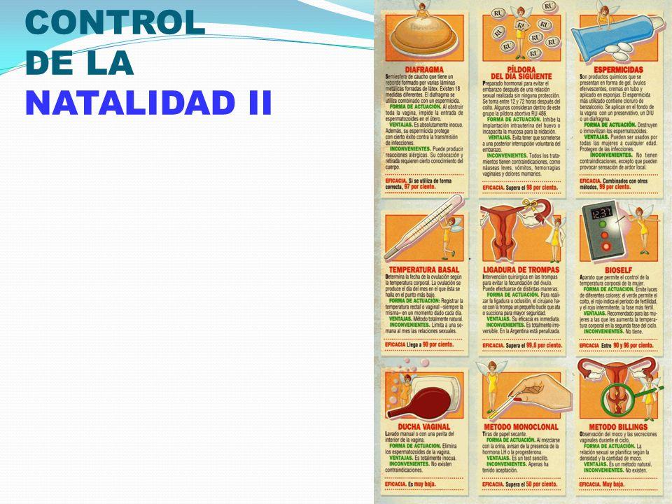 CONTROL DE LA NATALIDAD II