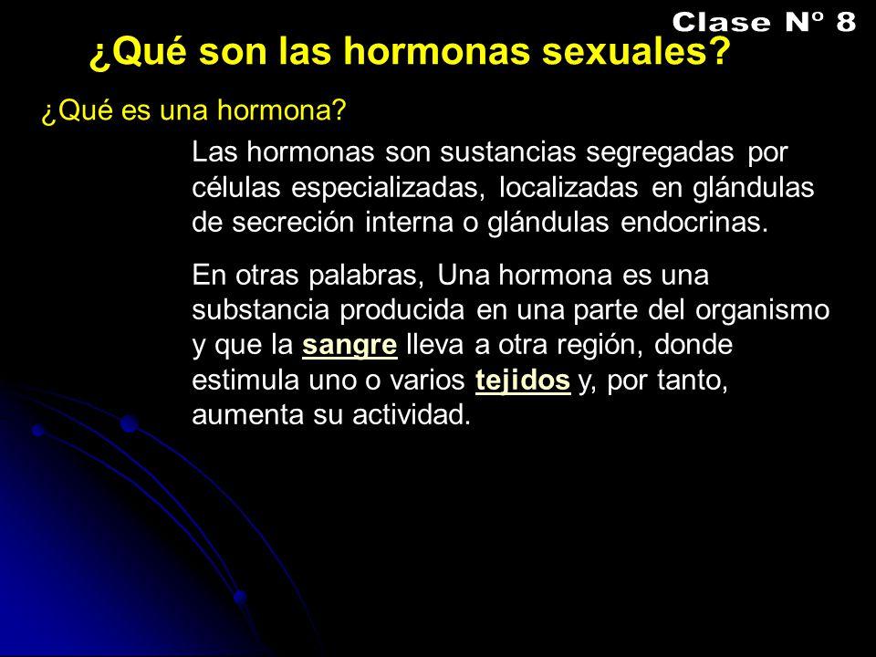 Clase Nº 8 ¿Qué son las hormonas sexuales ¿Qué es una hormona