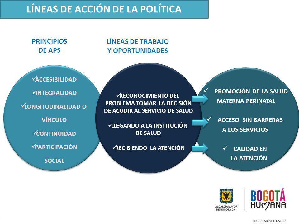LÍNEAS DE ACCIÓN DE LA POLÍTICA