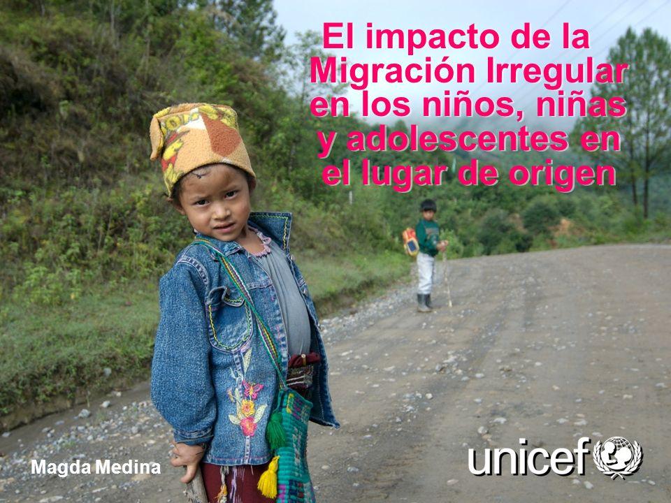 El impacto de la Migración Irregular en los niños, niñas y adolescentes en el lugar de origen