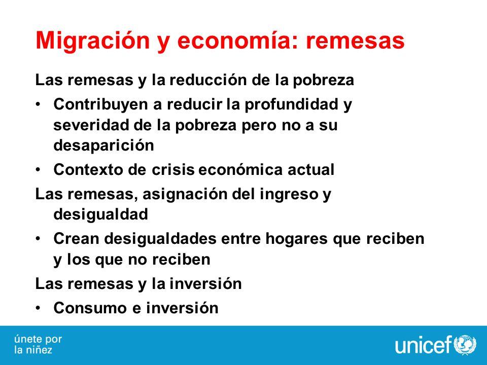 Migración y economía: remesas