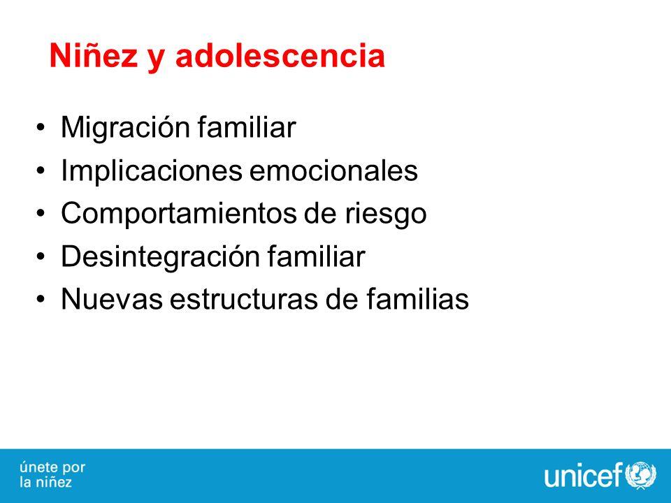 Niñez y adolescencia Migración familiar Implicaciones emocionales