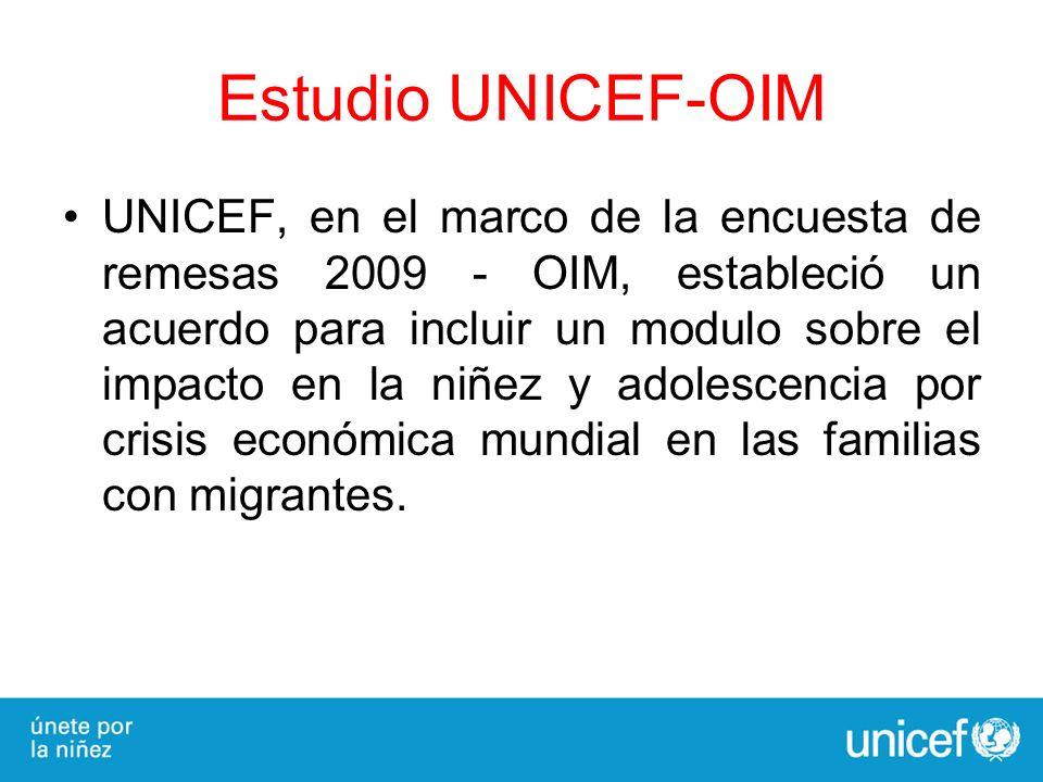 Estudio UNICEF-OIM