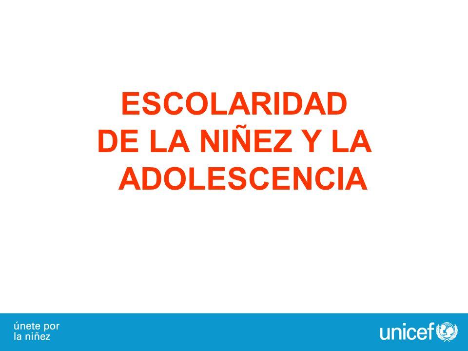 DE LA NIÑEZ Y LA ADOLESCENCIA