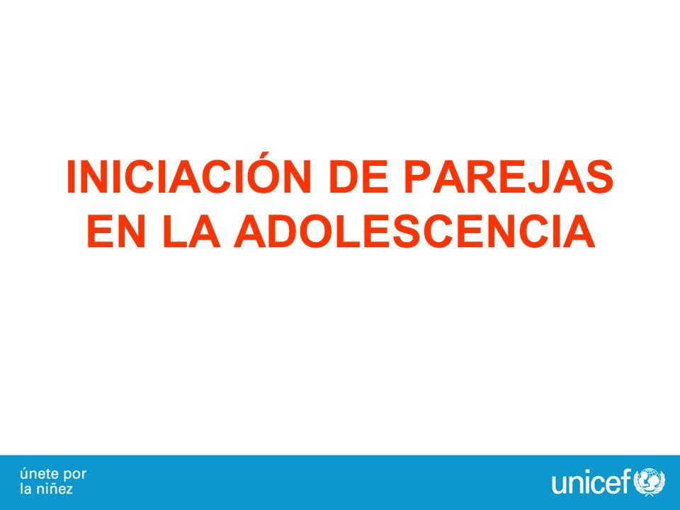 INICIACIÓN DE PAREJAS EN LA ADOLESCENCIA
