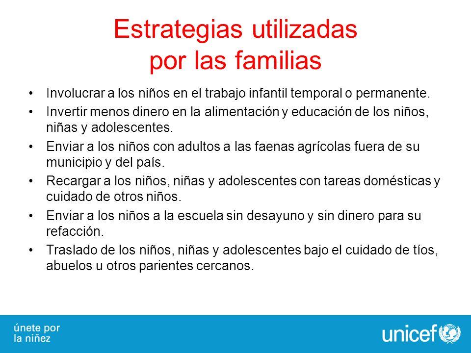 Estrategias utilizadas por las familias