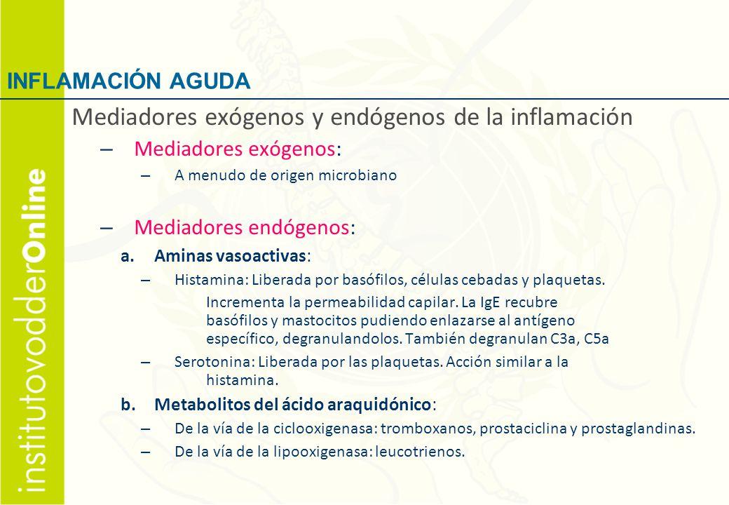 Mediadores exógenos y endógenos de la inflamación