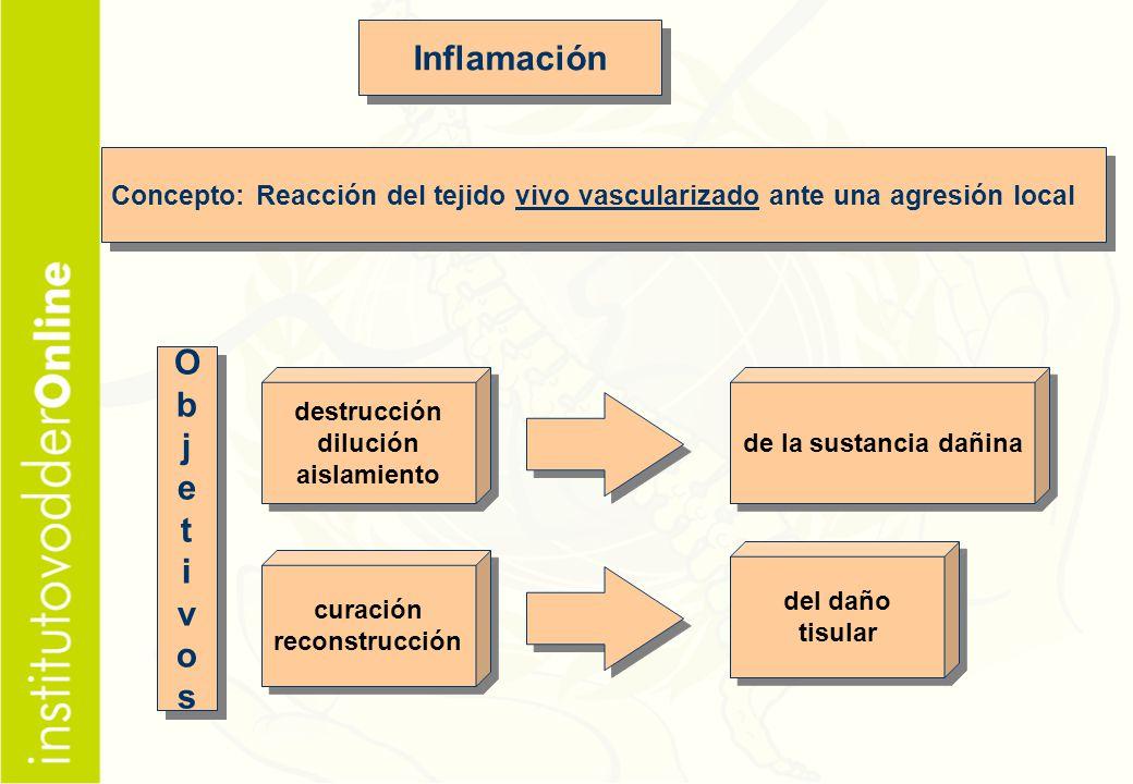 Inflamación O b j e t i v o s