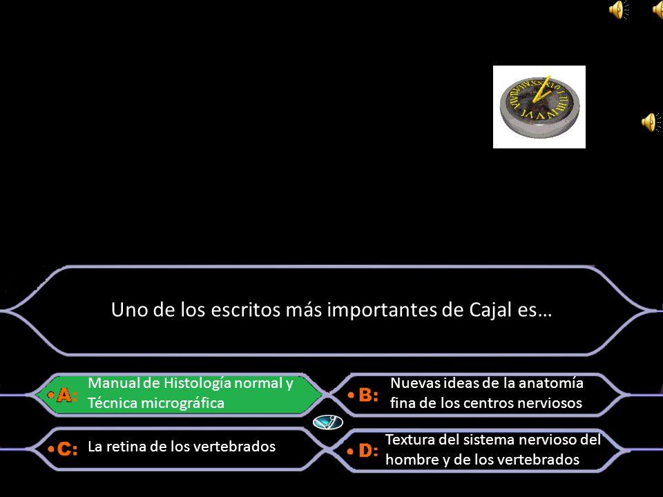 Uno de los escritos más importantes de Cajal es…