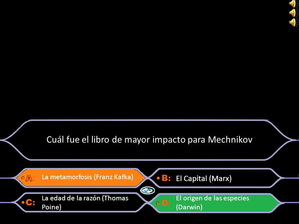 Cuál fue el libro de mayor impacto para Mechnikov