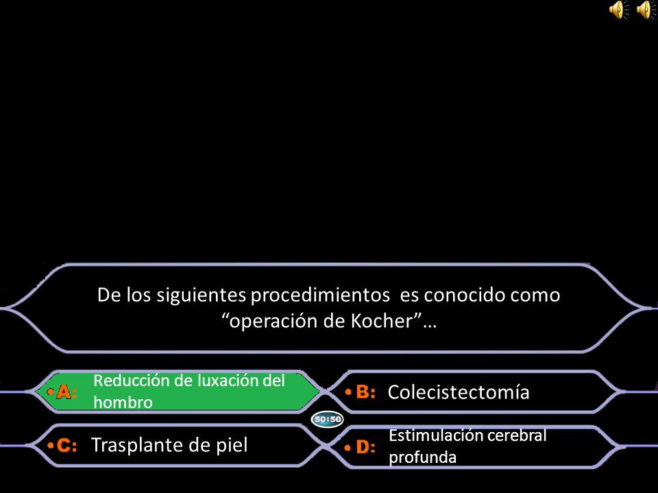 De los siguientes procedimientos es conocido como operación de Kocher …