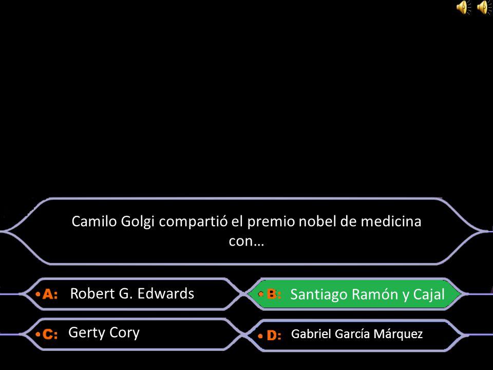 Camilo Golgi compartió el premio nobel de medicina con…