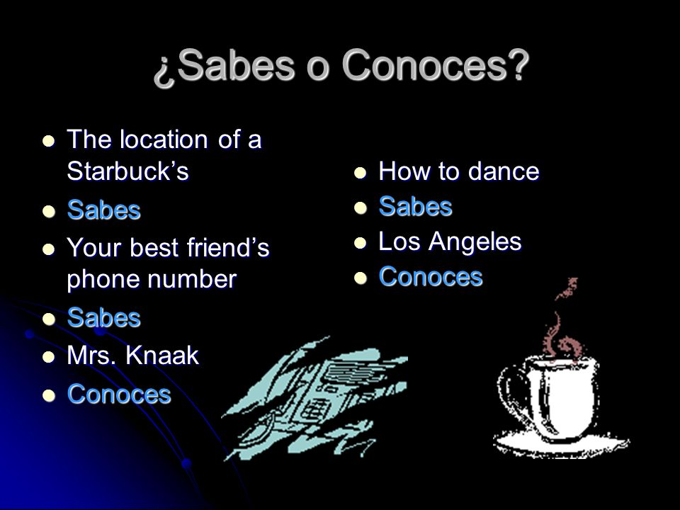 ¿Sabes o Conoces The location of a Starbuck's Sabes