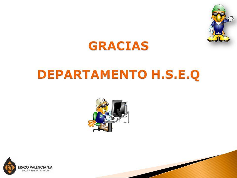 GRACIAS DEPARTAMENTO H.S.E.Q