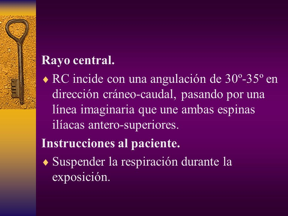 Rayo central.