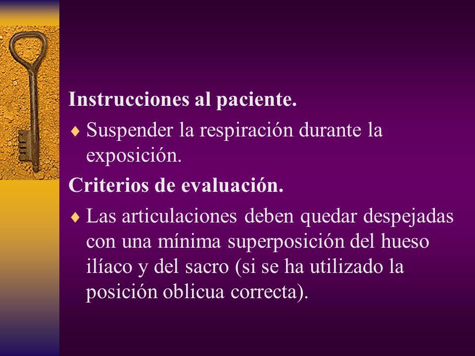 Instrucciones al paciente.