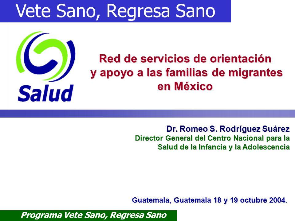 Red de servicios de orientación y apoyo a las familias de migrantes