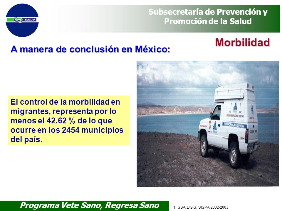 Morbilidad A manera de conclusión en México: