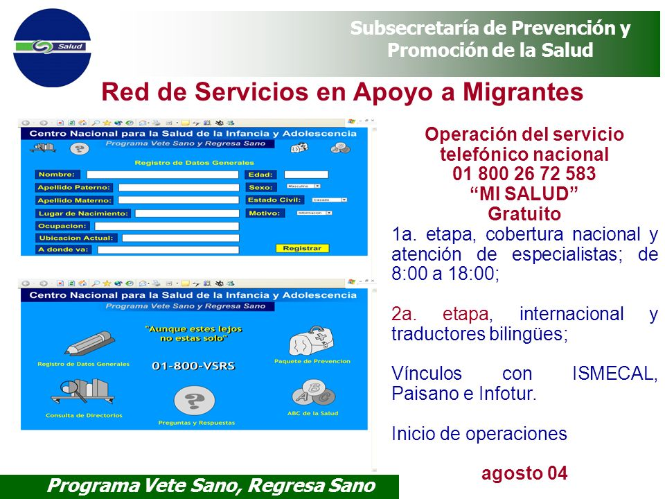 Operación del servicio telefónico nacional