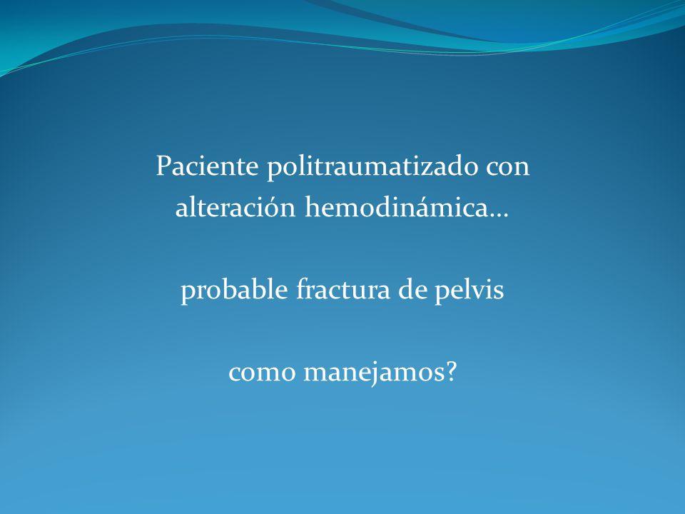 Paciente politraumatizado con alteración hemodinámica…