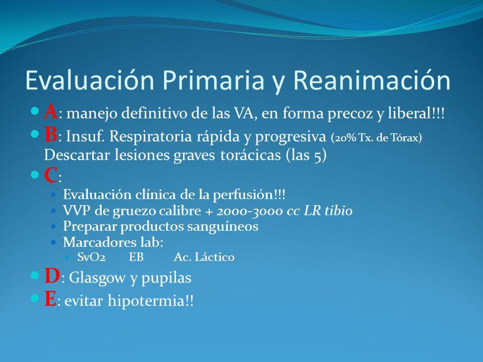 Evaluación Primaria y Reanimación