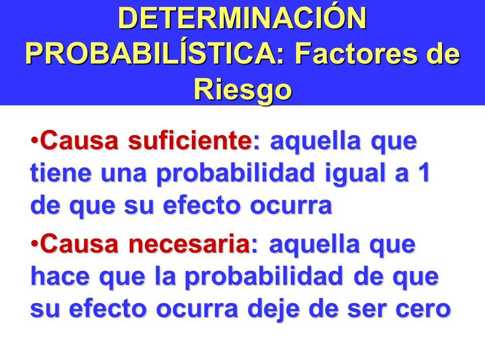 DETERMINACIÓN PROBABILÍSTICA: Factores de Riesgo