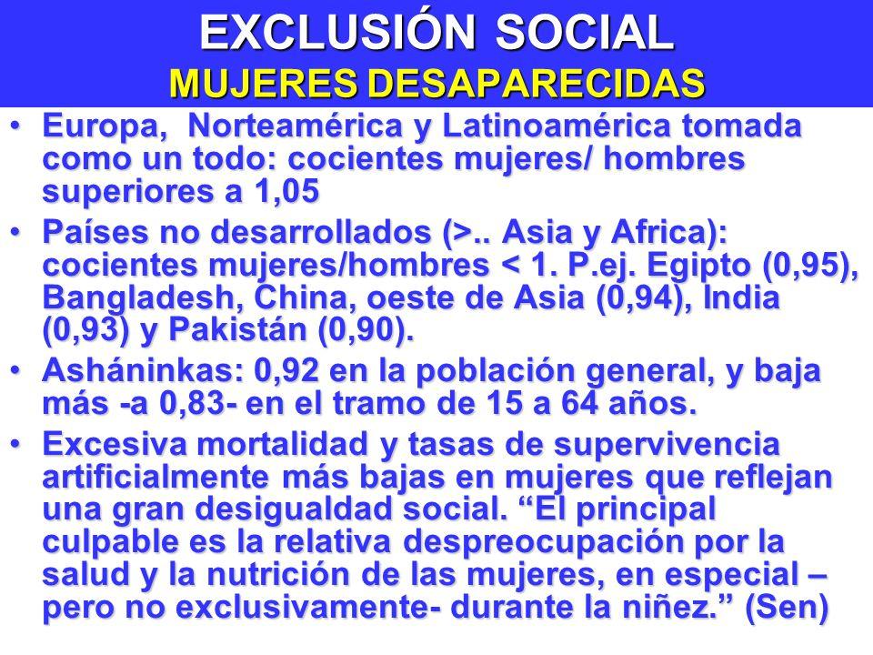 EXCLUSIÓN SOCIAL MUJERES DESAPARECIDAS
