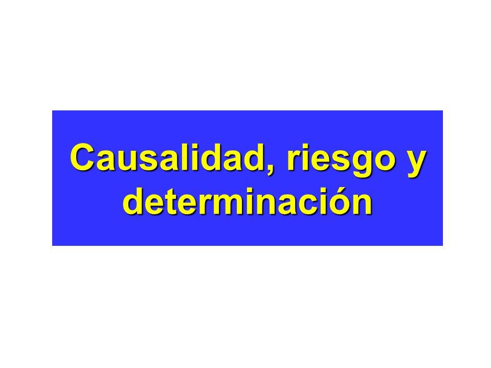 Causalidad, riesgo y determinación
