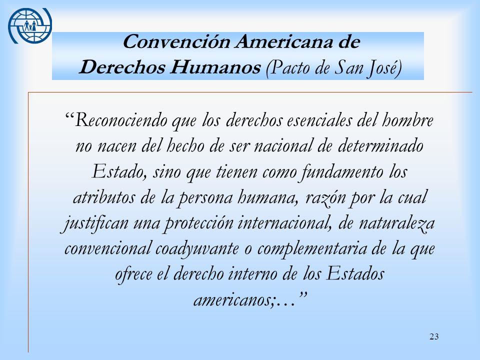 Convención Americana de Derechos Humanos (Pacto de San José)