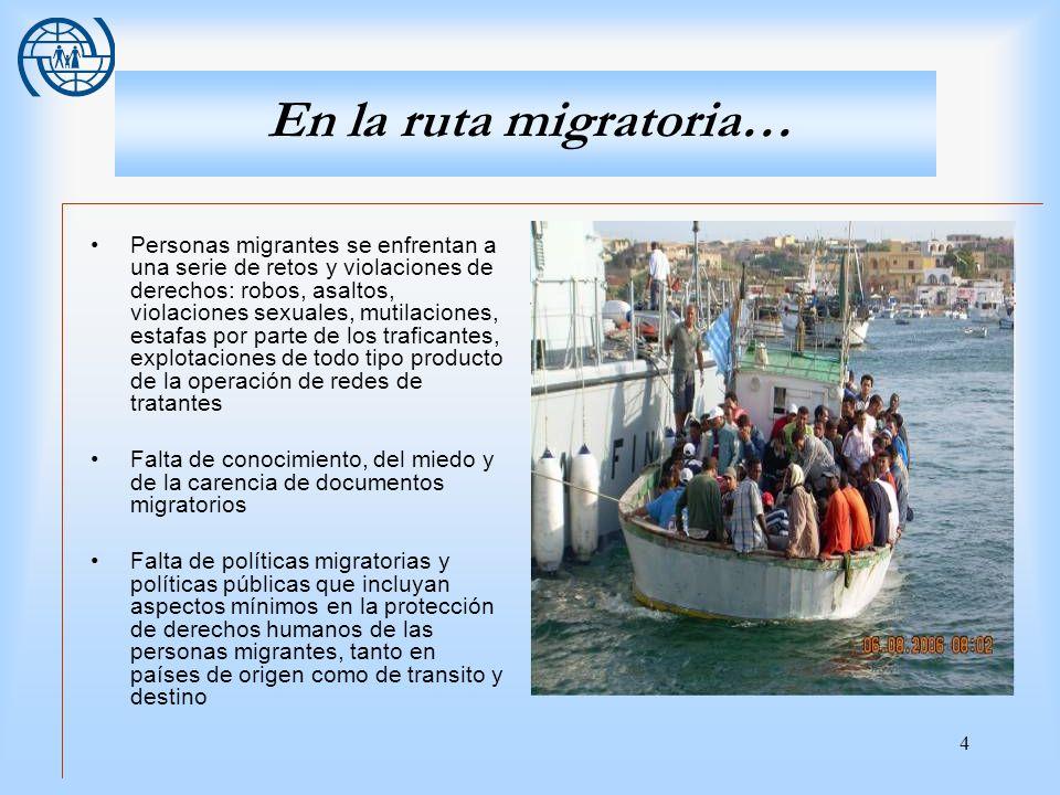 En la ruta migratoria…