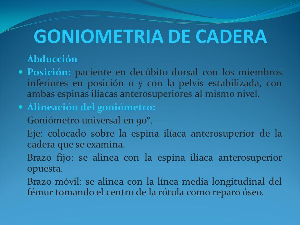 GONIOMETRIA DE CADERA Abducción