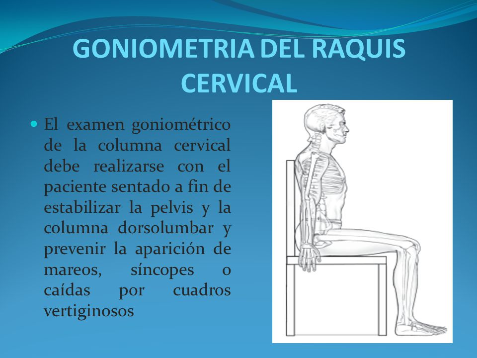 GONIOMETRIA DEL RAQUIS CERVICAL