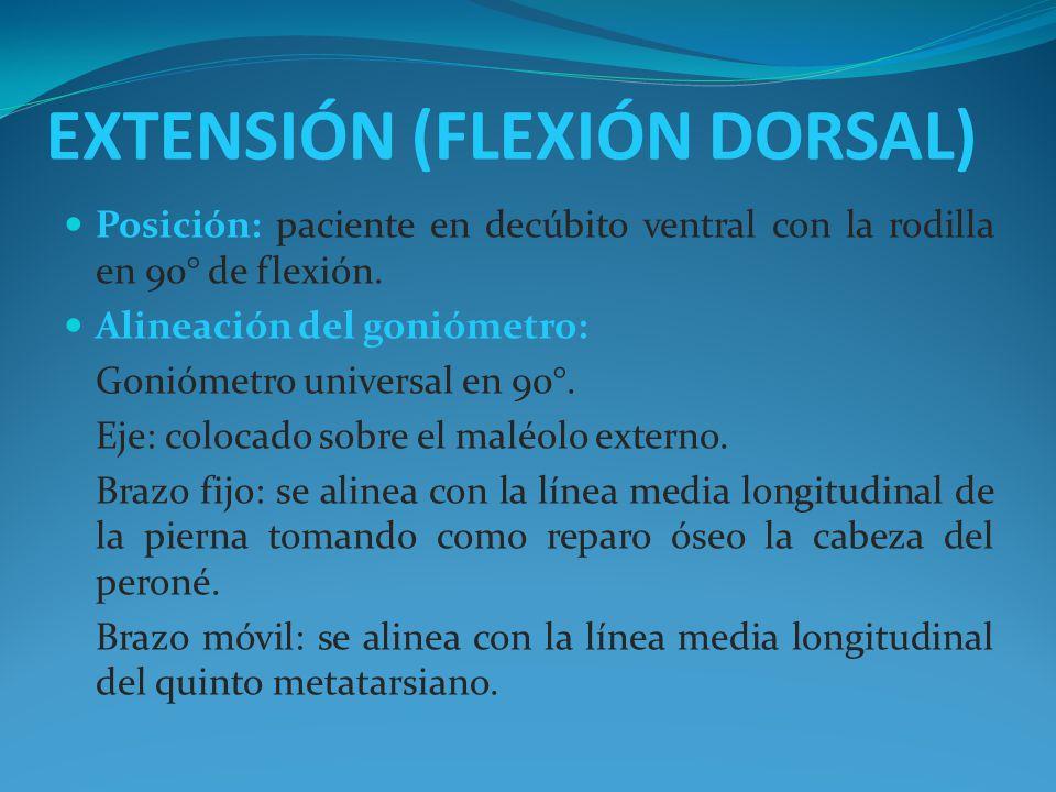 EXTENSIÓN (FLEXIÓN DORSAL)