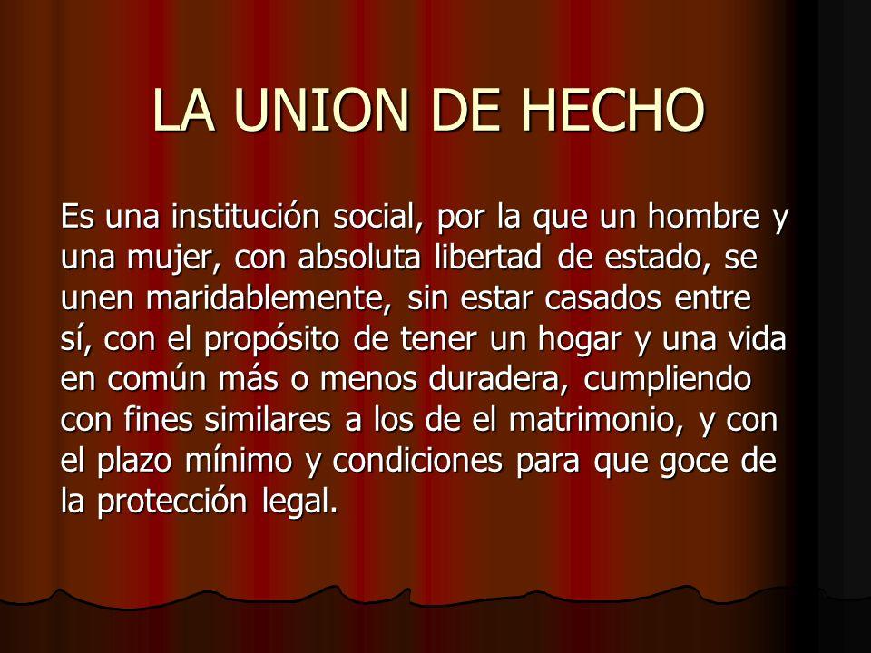 LA UNION DE HECHO