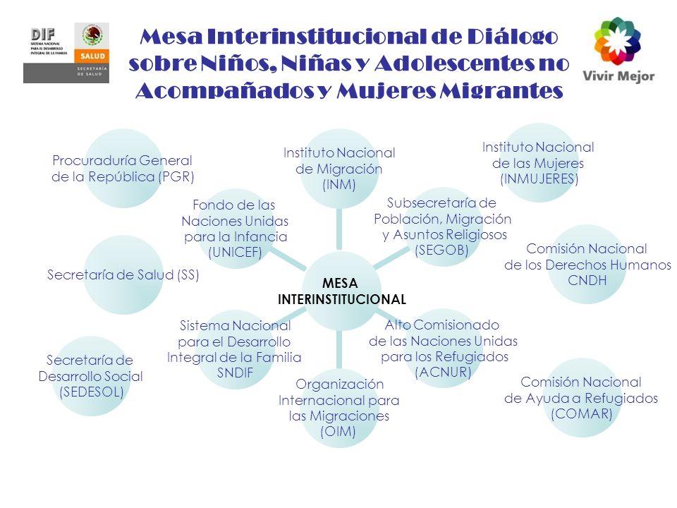 Mesa Interinstitucional de Diálogo sobre Niños, Niñas y Adolescentes no Acompañados y Mujeres Migrantes