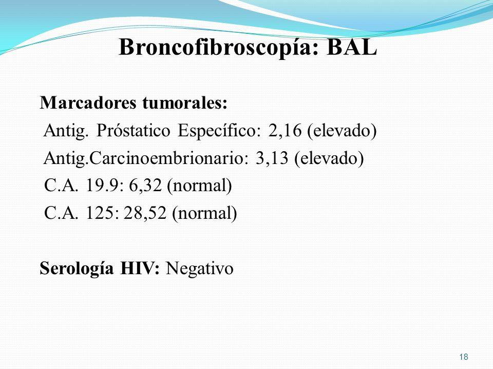 Broncofibroscopía: BAL