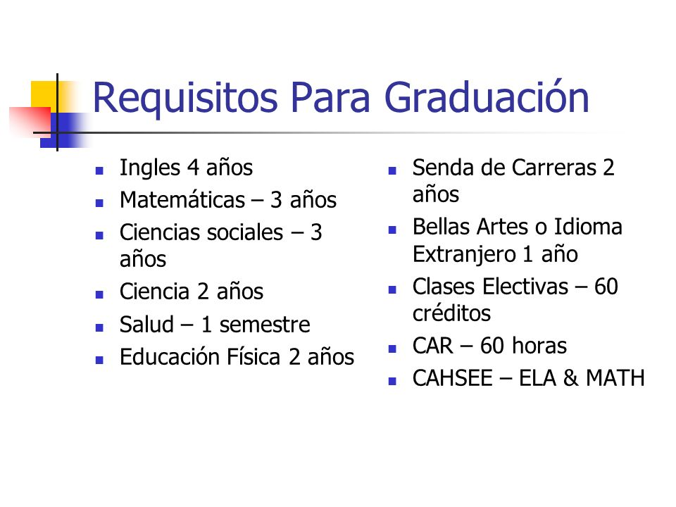 Requisitos Para Graduación