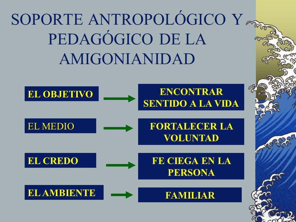 SOPORTE ANTROPOLÓGICO Y PEDAGÓGICO DE LA AMIGONIANIDAD