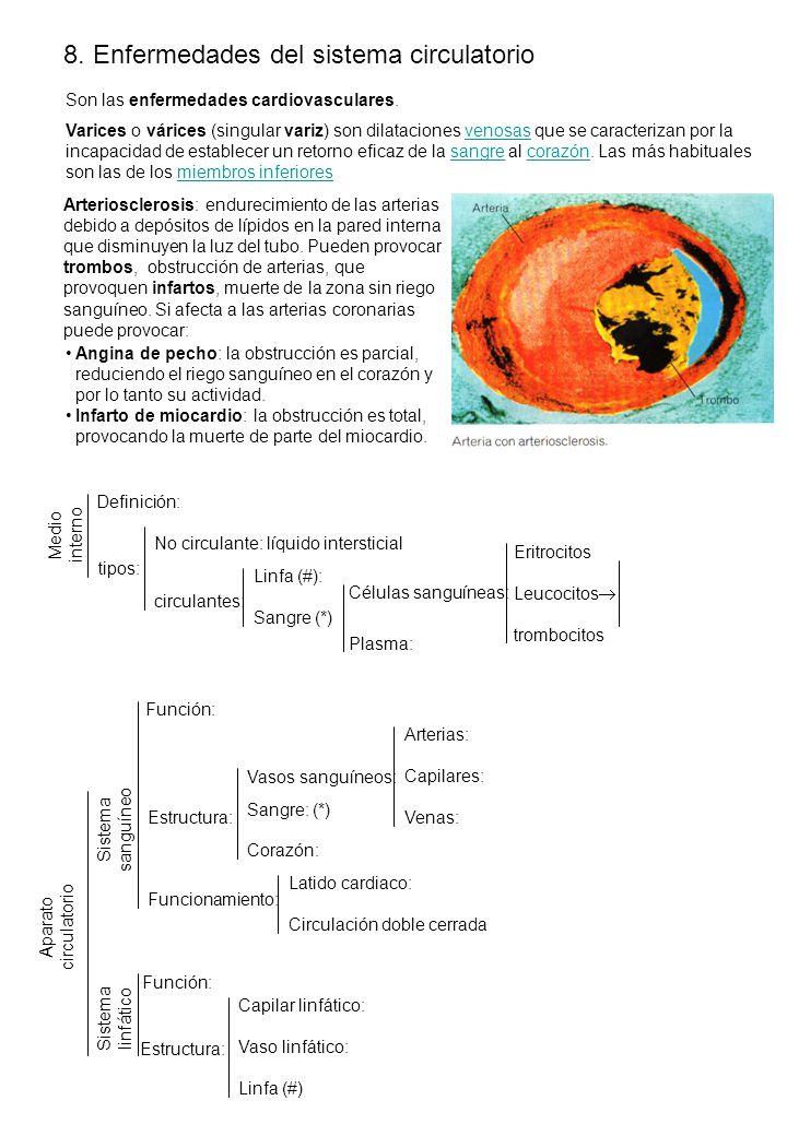 8. Enfermedades del sistema circulatorio