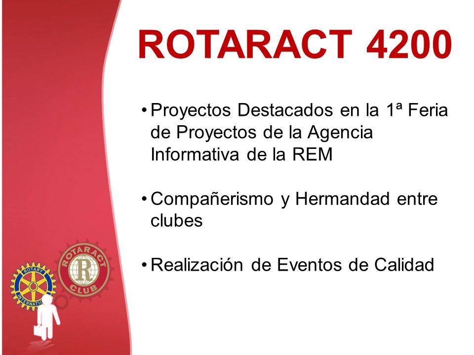 ROTARACT 4200 Proyectos Destacados en la 1ª Feria de Proyectos de la Agencia Informativa de la REM.