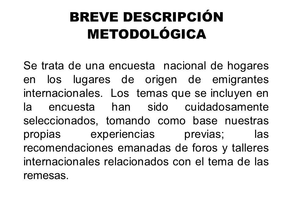 BREVE DESCRIPCIÓN METODOLÓGICA