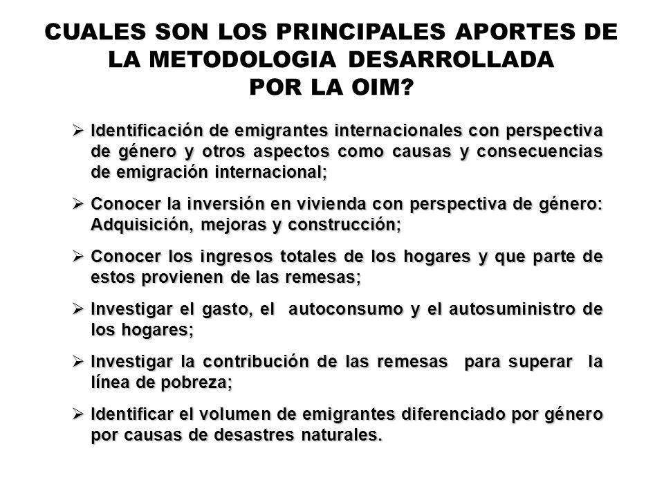 CUALES SON LOS PRINCIPALES APORTES DE LA METODOLOGIA DESARROLLADA