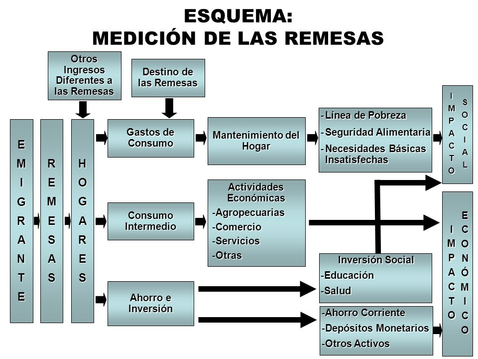MEDICIÓN DE LAS REMESAS