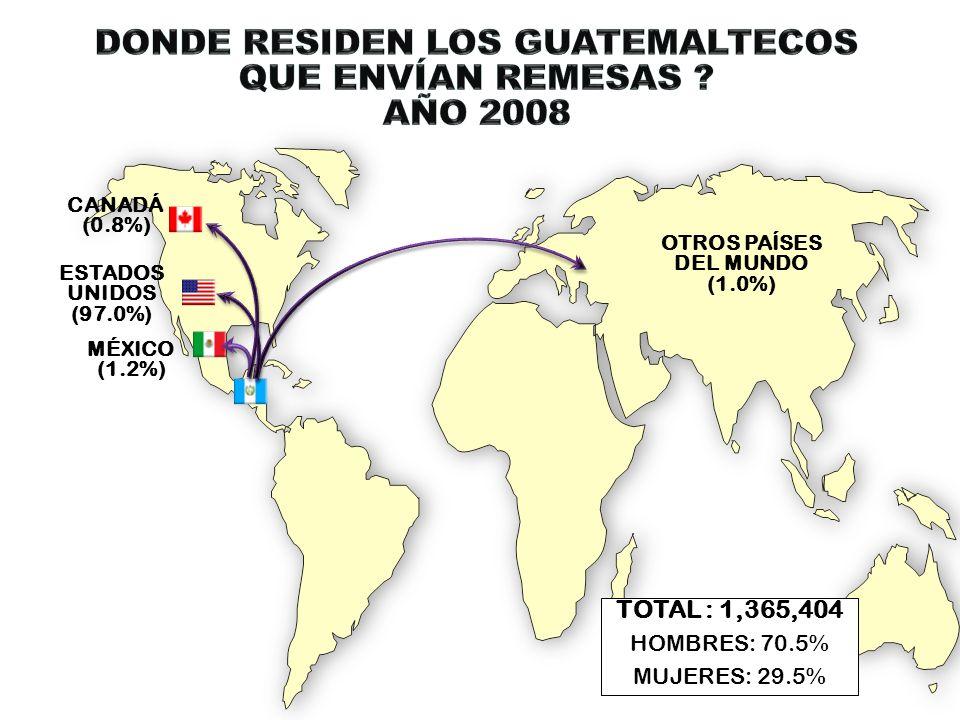 DONDE RESIDEN LOS GUATEMALTECOS