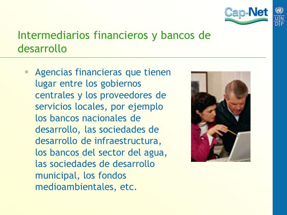 Intermediarios financieros y bancos de desarrollo