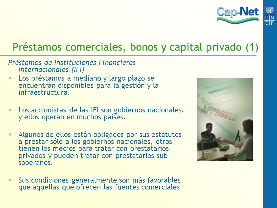 Préstamos comerciales, bonos y capital privado (1)